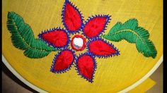 Hand Embroidery Beautiful Flower: Satin & Long Herringbone Stitch by Amm...