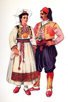 Costume of South Dubrovnik County, Konavlje, Čilipi, Dalmatia, Croatia