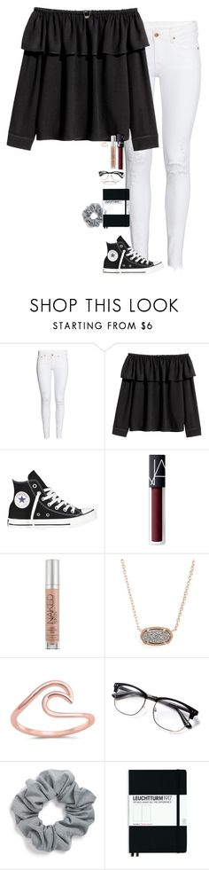 """""""I loved my outfit today❣️"""" by halledaniella ❤ liked on Polyvore featuring H&M, Converse, NARS Cosmetics, Urban Decay, Kendra Scott, Natasha, Leuchtturm1917 and Gorjana"""