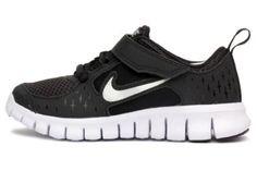 Nike Kids' Free Run 3 Running Shoe Black/White/Silver (1) Nike. $53.99