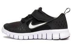 Nike Kids' Free Run 3 Running Shoe Black/White/Silver (1) Nike. $53.99