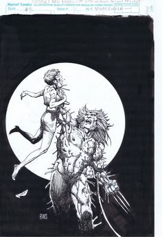 Barry Windsor Smith Weapon X Cover - MCP 76 Comic Art