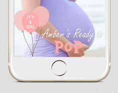 It's A Boy It's A Girl Baby Shower Party Custom Snapchat | Geofilter Baby Pink Blue Balloon | It's A Girl Snapchat | It's A Boy Snapchat | by MustHaveThese on Etsy