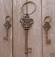 My front door's gonna require one of these bad boys to unlock. Doing it old style, oh yeah...lol.
