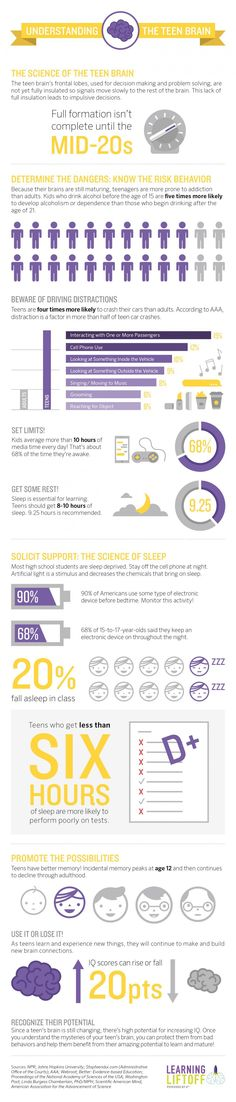 Infographic for understanding your teen's brain