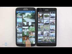 Samsung Galaxy Mega 6.3 vs Huawei Ascend Mate - YouTube