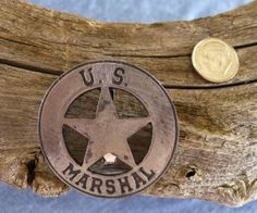 US Marshall Small Round Badge with pin back Us Marshals, Old Barn Wood, Old West, Badges, Old Things, Rustic, Awesome, Etsy, Decor