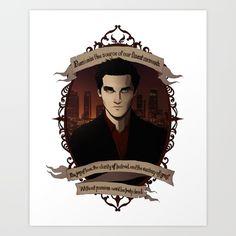 Angel - Angel/Buffy the Vampire Slayer Art Print
