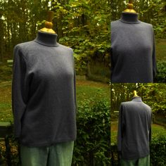 1990s Lavender Turtleneck 2-ply Cashmere Sweater, Charter Club (Mays), Size L, 3 quarter Length Sleeves by HiddenTreasureHunter on Etsy