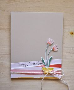 Happy Birthday Card by Maile Belles for Papertrey Ink (March 2015)