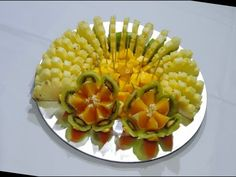 Delicious Fruit Center, how you make - By J.Pereira Art Carving Fruits and Vegetables - YouTube
