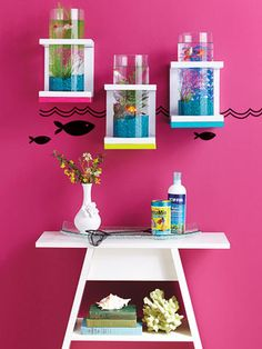 Such a great idea for beta fish. I want to do this!