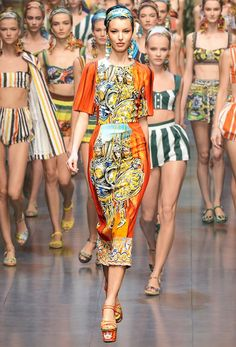 wmagazine:    Photos by firstVIEW. Gif by MyTran Dang  Fun with Dolce AND Gabbana!