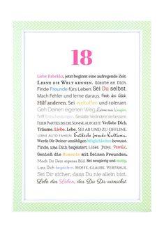 Geschenk zum 18. Geburtstag Mädchen – Online-Shop Frau Soth #18geburtstag #geschenkgeburtstag