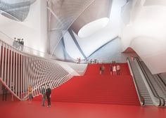 Image 7 of 14 from gallery of Sejong Center for Performing Arts / Asymptote Architecture. Photograph by Asymptote Architecture New York Architecture, Vernacular Architecture, Futuristic Architecture, Architecture Photo, Lobby Interior, Interior Design, Theatre Design, Interactive Design, Performing Arts