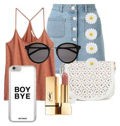 """""""Untitled #5"""" by ariadae on Polyvore featuring Miss Selfridge, Under One Sky, Yves Saint Laurent and Monsoon"""