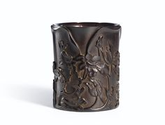 A CARVED ZITAN 'CAMELLIA'BRUSHPOT<br>QING DYNASTY | Lot | Sotheby's