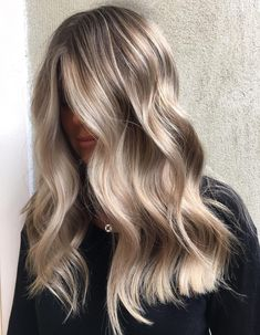 Dirty blonde with soft waves. So pretty