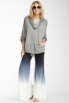 Love the Ombre pants.  Sierra Ombre Drawstring Foldover Pant by YFB on @HauteLook