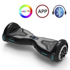 TOMOLOO Hoverboard Self Balancing Scooter Electric Hover Board with Bluetooth Lights -UL Certified- Black - Web Diversity Owns eCom and Niche Websites: Ez Rider, Two Wheel Scooter, Delorean Time Machine, Electric Scooter For Kids, Best Build, Look Good Feel Good, Flat Tire, Good And Cheap, Iphone Models
