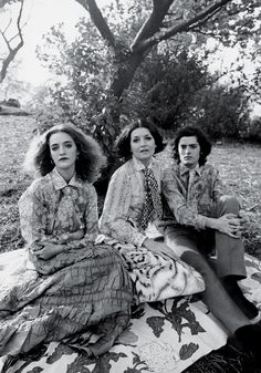 Loulou de la Falaise with her mother, Maxime, and brother, Alexis, in 1968. Maurice Hogenboom/Vogue/Condé Nast