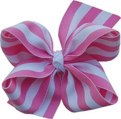 Stripe Hair Bow $5 http://www.hairbows.com/product-p/strhb.htm