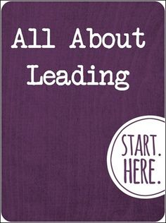 all about leading