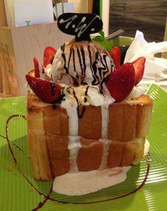 Choco ice cream toast ❤