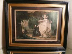 Antique Victorian Nathaniel Currier Mourning Memorial Lithograph Hand Dated 1839 | eBay