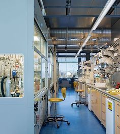 Interior view of chemistry lab with view to campus. Chemistry For Kids, Chemistry Experiments, Chemistry Teacher, Chemistry Revision, Chemistry Quotes, Chemistry Tattoo, Chemistry Art, Science Labs, Science Humor