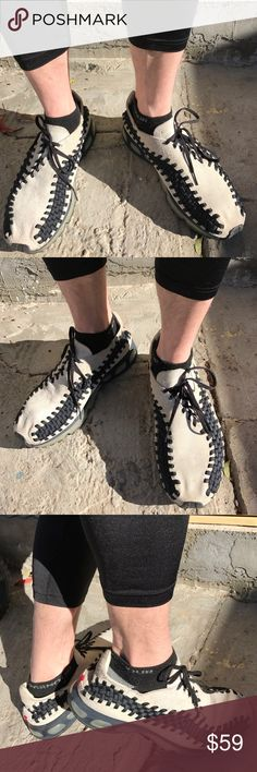 Nike Men Shoes Air Max 360 Footscape College Jock+ 100% authentic. College football jock used worn shoes. Model: Footscape Woven. Suede upper. The more expensive FULL air filled soles. Nike Shoes Athletic Shoes