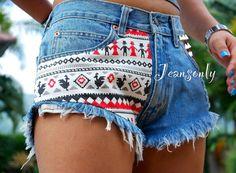 Aztec tribal shorts