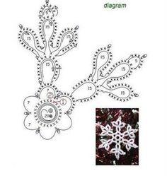Misc motifs, snowflakes, etc - Снежинки; May 2011 - lee ann hamm - Веб-альбомы Picasa Crochet Snowflake Pattern, Crochet Stars, Crochet Snowflakes, Thread Crochet, Crochet Motif, Crochet Designs, Crochet Dolls, Crochet Stitches, Crochet Patterns