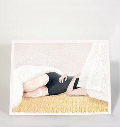 Behind the curtain - art print / illustration / 12x16inch / 30x40cm
