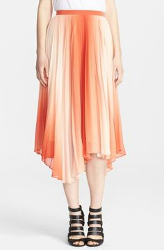 Love the romantic flow to this chiffon midi skirt by Alice + Olivia.