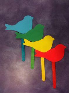 What Happens In Storytime...: Flannel Friday - Blue Bird, Blue Bird