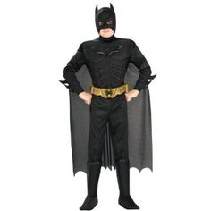 Batman Dark Knight Rises Child s Deluxe Muscle Chest Batman Costume with Mask/Headpiece and Cape - Small. Batman Dark Knight Rises Childs Deluxe Muscle Chest Batman Costume with Mask/Headpiece and Cape - Small. Mens Batman Costume, Diy Knight Costume, The Mask Costume, Batman Costumes, Boy Costumes, Super Hero Costumes, Adult Costumes, Costume Ideas, Joker Costume