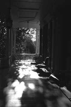 porch in shadows....