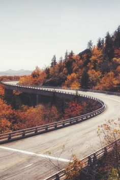 Gorgeous highway with fall colors