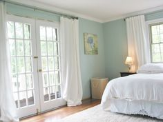 Olympic Paint: Blue Shamrock. Very light and airy! love it.
