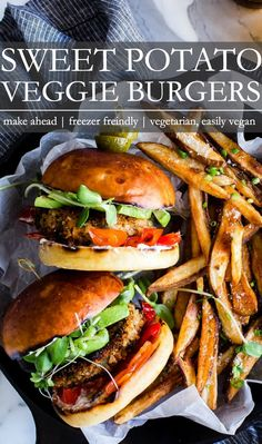 Best Vegetarian Sandwiches, Best Vegetarian Recipes, Whole Food Recipes, Healthy Recipes, Protein Recipes, Healthy Eats, Sweet Potato Veggie Burger, Veggie Burgers, Meatless Burgers