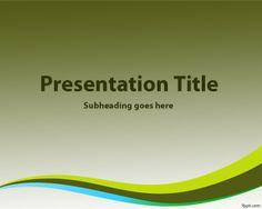 Plantilla PowerPoint con Fondo Verde