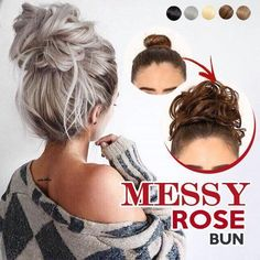 Do you want the Perfect Messy Rose Bun in only 2 seconds? Get Your Gorgeous Messy Bun Look, rock that beautiful hair updo confidently again while enjoying the attention its getting! Rose Bun, Rose Hair, Professional Updo, Elastic Hair Bands, Trending Hairstyles, Bride Hairstyles, Cute Messy Hairstyles, Scrunchies, Hair Pieces