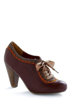 About the Benjamins Heel in Chocolate | Mod Retro Vintage Heels | ModCloth.com - StyleSays