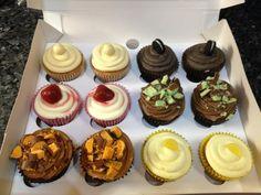 White Chocolate, Oreo, Strwberry cheesecake, Mint Aero,Orange Aero and Lemon sorbet cupcakes by Piece of Cake, Gibraltar