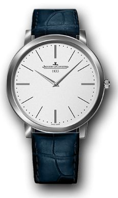 Jaeger-LeCoultre Master Ultra Thin Jubilee    ref. 1296520    platinum case, dauphine-style hands