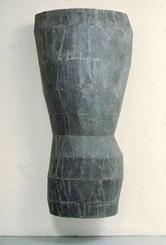 Minoru Ohira | sculpture (slate on wood)
