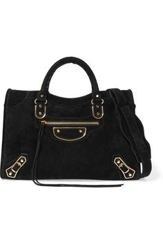 0e8d257406e0 Black suede Two-way zip fastening along top Weighs approximately.  Trick ThirtyOne · Handbag Addiction