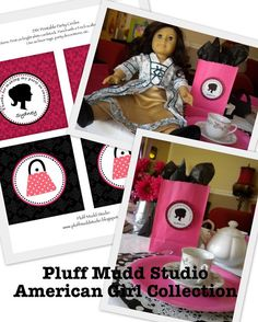 American Girl  inspired DIY Printable Party by pluffmuddstudio, $5.00
