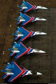 Russian Knights. Airplane Fighter, Fighter Aircraft, Fighter Jets, Russian Military Aircraft, Sukhoi, Military Flights, Aircraft Painting, Man Of War, Military Jets